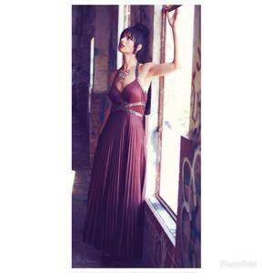 Dresses & Skirts - Evening/promDress,color espresso, pleatedsize 5/6